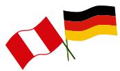Banderas Alemania Peru Deutschland Fahne
