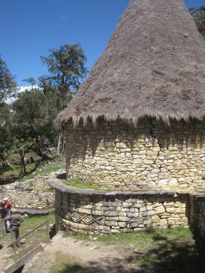 Haus in Kuelap der Festung der Chachapoyas Wolkenkrieger.