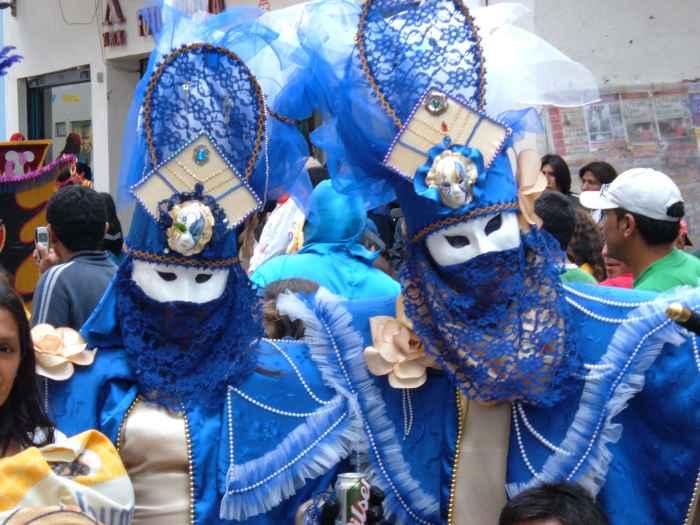 Karneval in Südamerika hier Cajamarca und nicht Rio de Janeiro in Brasilien.