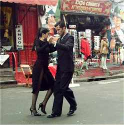 Tango tanzendes Paar Buenos Aires