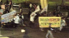 Demonstration gegen Conga und die staatliche Gewalt in diesem Konflikt.