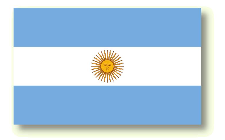 Bild der Fahne von Argentinien