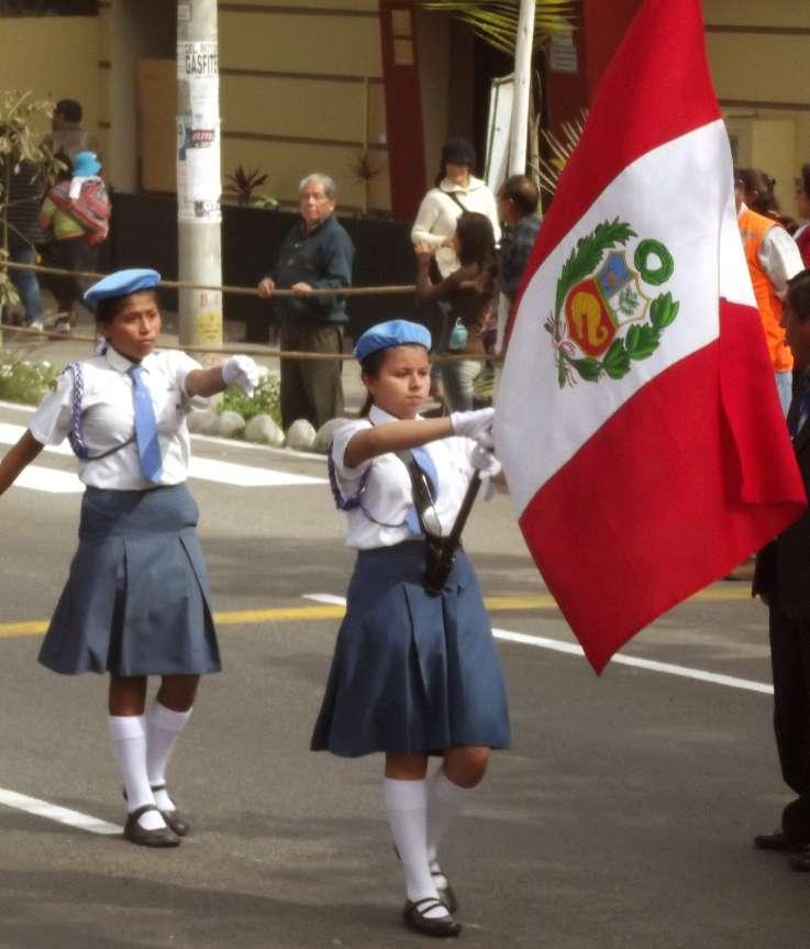Desfile Parade zu den Fiestas Patrias in Lima Peru