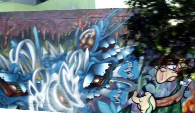 Graffiti Lima Peru im Juni 2012 fotografiert.