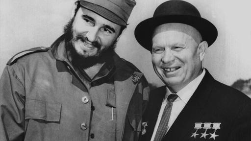 Fidel Castro mit Nikito Krustschow
