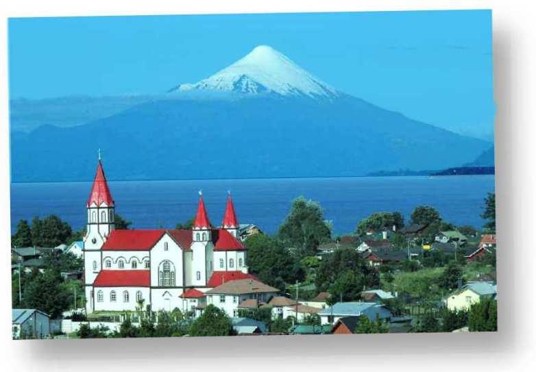 Puerto Varas Foto vom Vulkan Osorno Lago Llanquihue