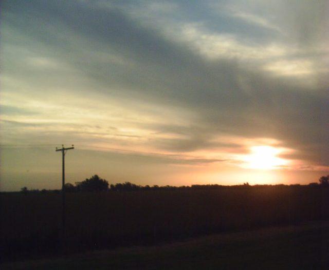 Sonnenuntergang-Argentinien