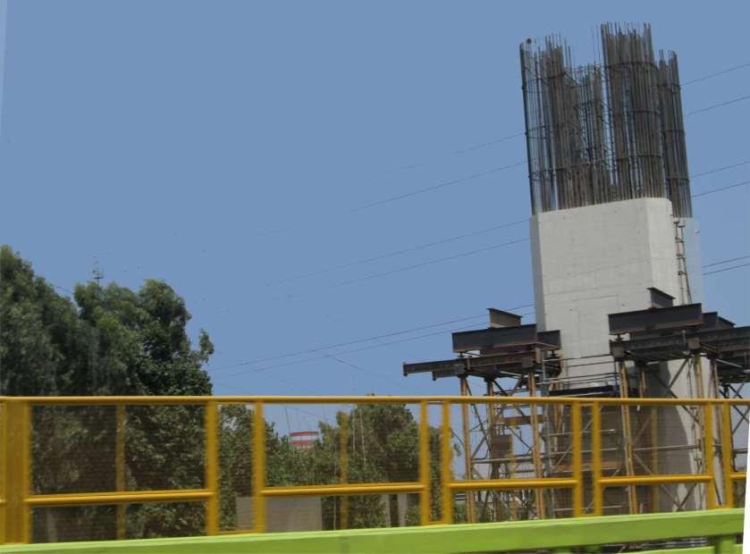 Metro No. 1 de Lima, construction de la Puente sobre el Rio Rimac.