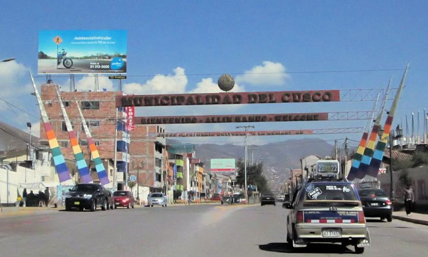 Cusco Straße nahe Flughafen