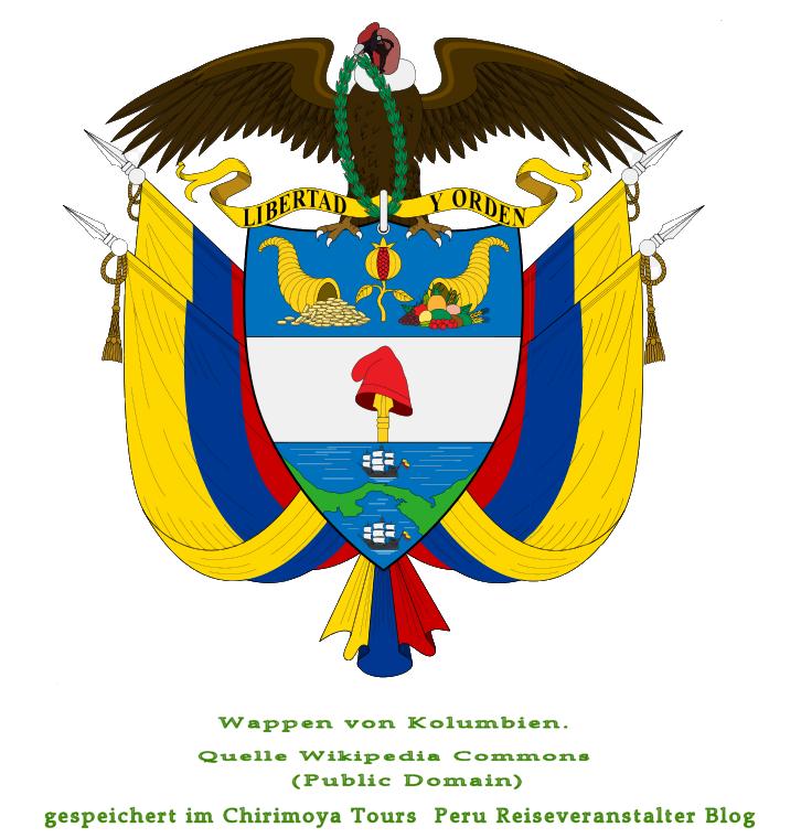 Wappen von Kolumbien auf Chirmoya Tours Reise Blog