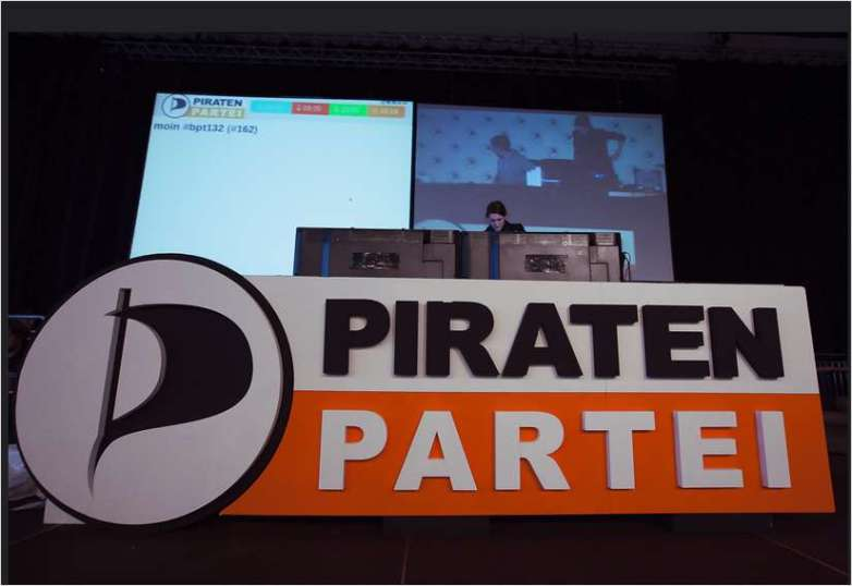 Piratenpartei Parteitag Pult.