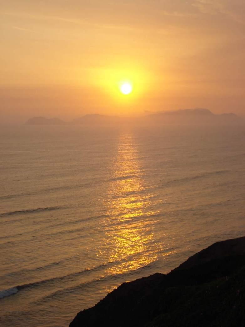 Sonnenuntergang-Pazifik-Miraflores