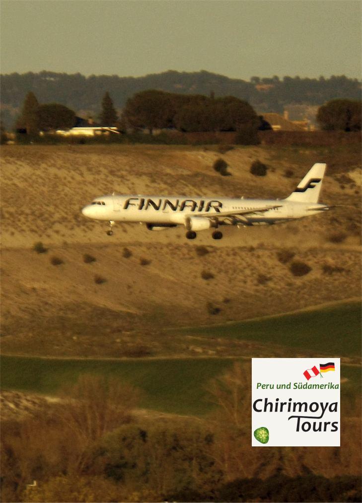 Finnair Flugzeug Madrid