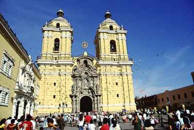Kathedrale San Francisco in Lima.