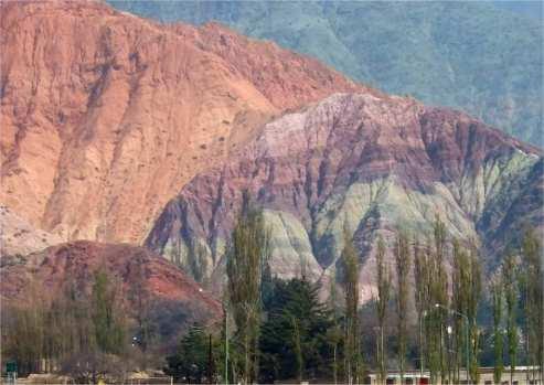 Berg der sieben Farben - Montana de siete colores in Argentinien
