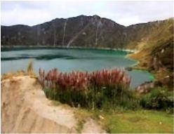 Kratersee Quilotoa in Ecuador