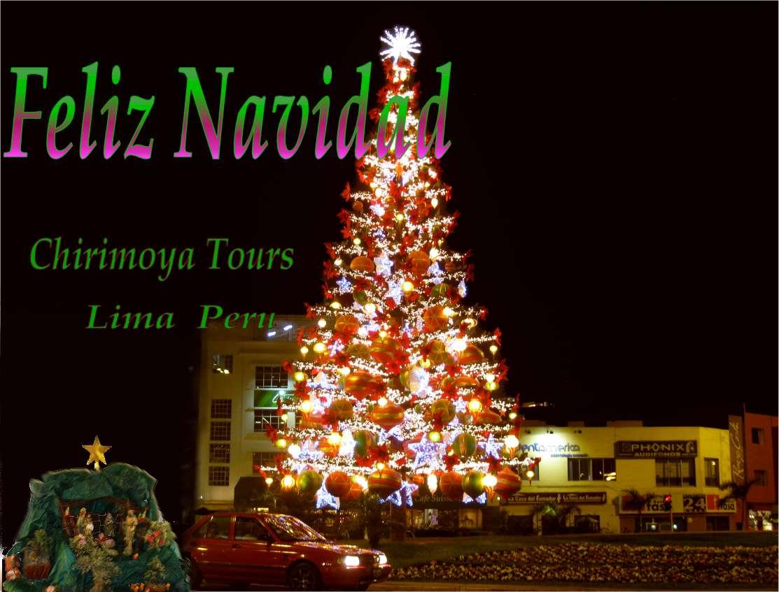 Frohe Weihnachten, feliz navidad. Von Chirimoya Tours