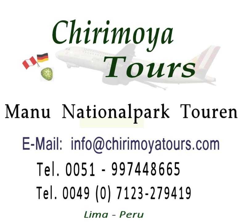 Logo Manu Nationalpark Touren (Regenwald von Peru).