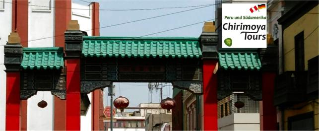 Eingangstor vom chinesischen Viertel in Lima.