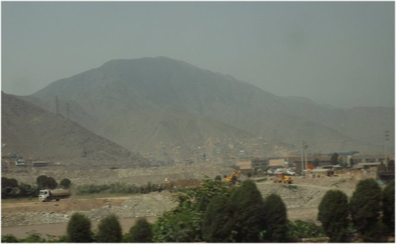 Lima Peru Baustelle.