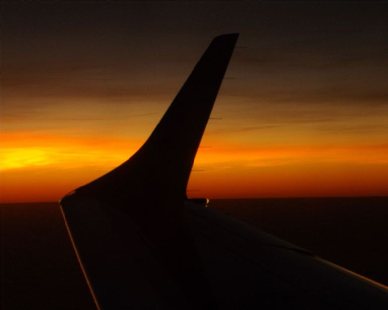sunset-in-the-sky - reisefoto aus dem Flugzeug