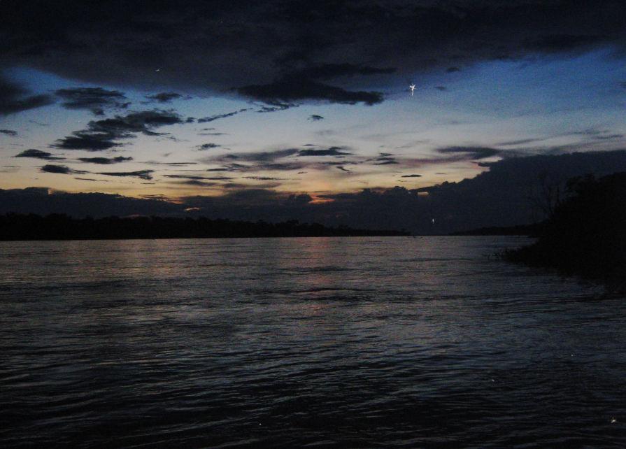 Heliconia Lodge Amazonas Abendstimmung