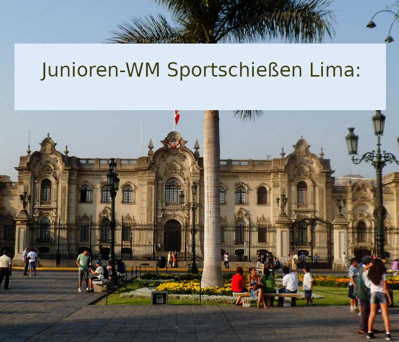 Meisterschaft der Junioren Sportschützen 2021 in Lima.
